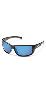 polarized blue mirror sunglasses durable anti reflective outdoors camping hiking uv protection