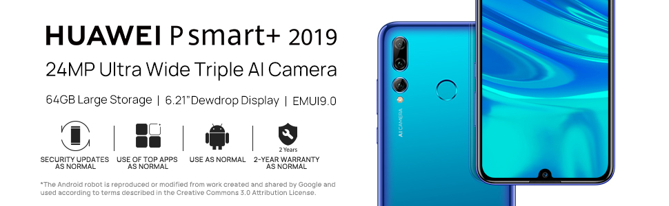 huawei p smart+ 2019 android smart phone