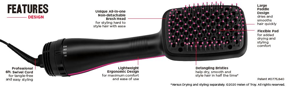 hairdryer, hairdryers, onestep, onestephairdryer, hairstyler, hairstylingbrush, revlon