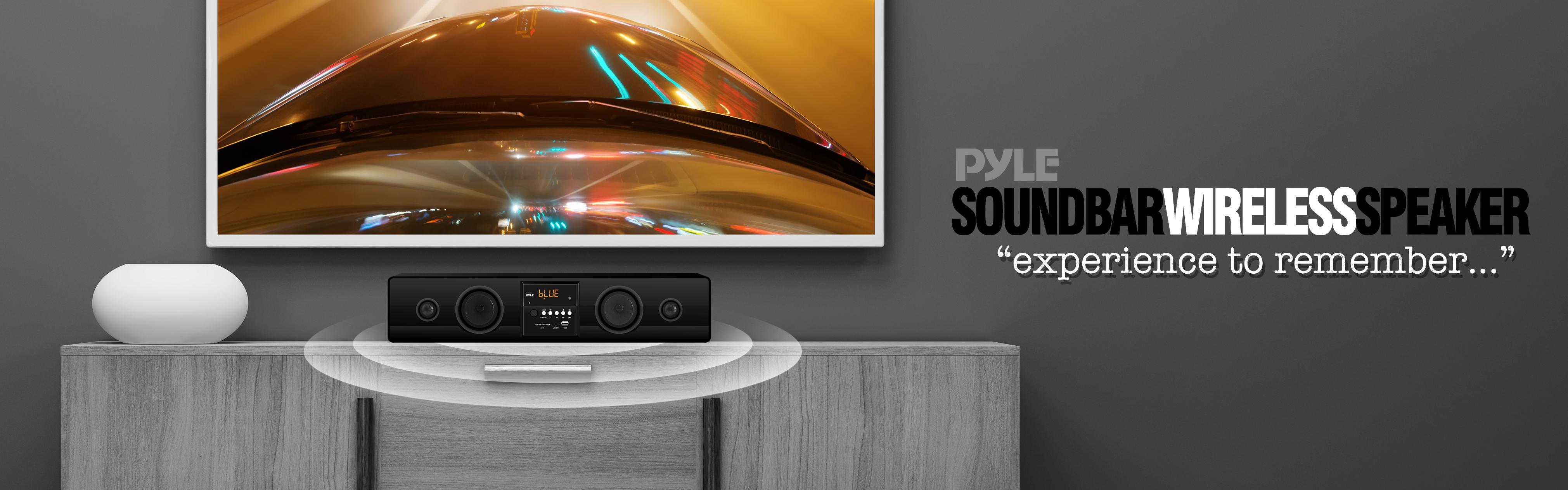 Pyle WiFi Bluetooth SoundBar, Wireless Music Streaming Surround Sound  Speaker System, USB/SD/MP3 Readers, FM Radio, 300 Watt (PSBV210WIFI)