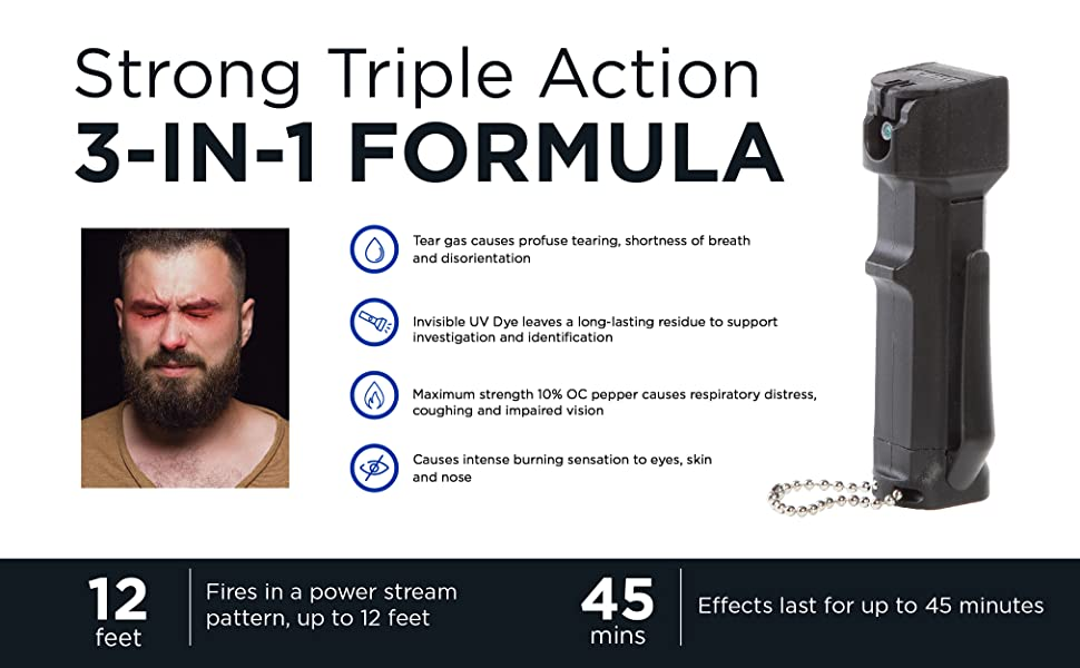 mace triple action pepper spray