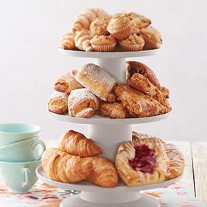 pastry stand, breakfast stand, brunch display, muffin stand, danish stand