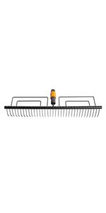 Mango QuikFit 156 cm · Cepillo de exterior · Rastrillo para césped · Rastrillo para hojas · Azada · Rastrillo de 14 dientes