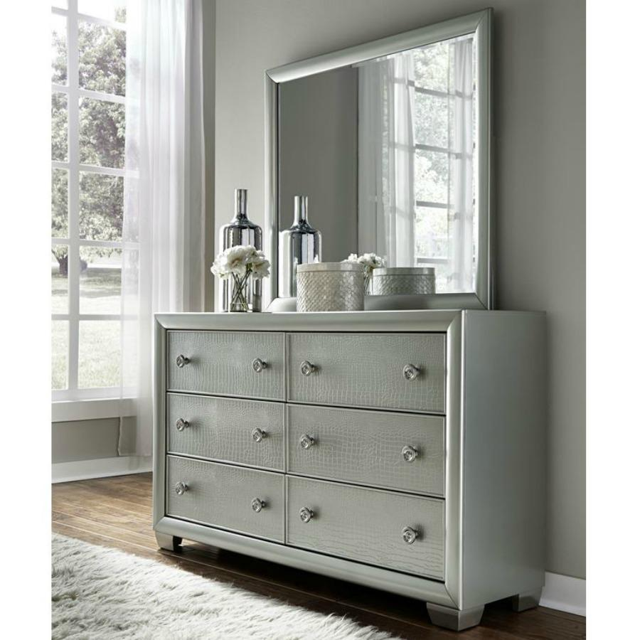 Amazon Com Pulaski Celestial Dresser With Mirror Medium Kitchen
