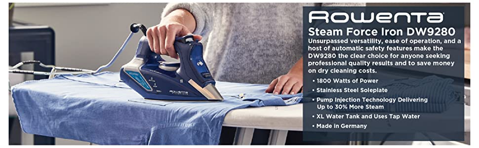 Rowenta, Steam Force Iron, Made in Germany, Garment Care