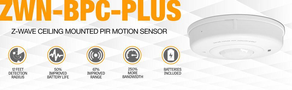 Amazon.com: Sensor de techo Z-Wave Plus Enerware, sensor Z ...