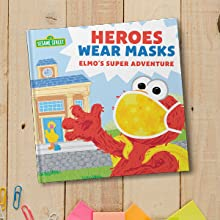 Heroes Wear Masks Cover (featuring Elmo in a Mask) on wooden boards