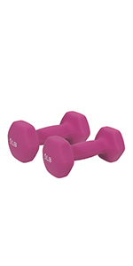 Sunny Health & Fitness Neoprene Dumbbell - 5lb (PAIR)