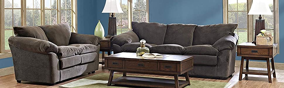 Klaussner Heights Loveseat, Chocolate