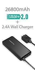Xtreme 26800mAh External Battery Charger & 2.4A Wall Charger