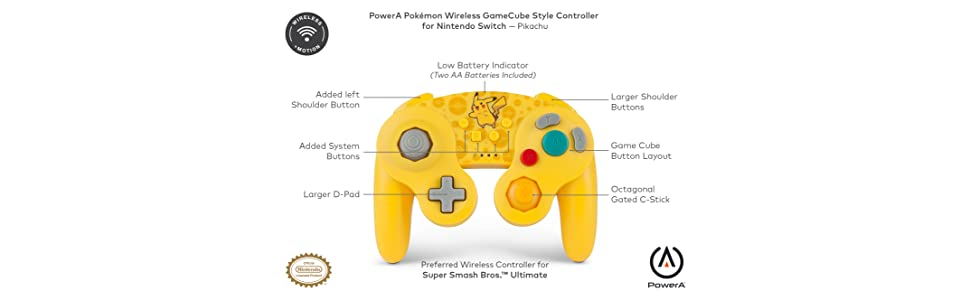 Pokémon Mando inalámbrico para Nintendo Switch - Estilo GameCube: Pikachu: Amazon.es: Videojuegos