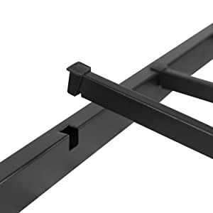 Metal Platform Bed Frame - No Box Spring Needed with Steel Slat Support and Quick Lock Functionality