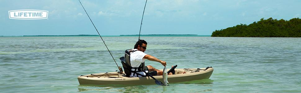 Lifetime tamarack sit on top kayak tan 120 for Tamarack fishing kayak