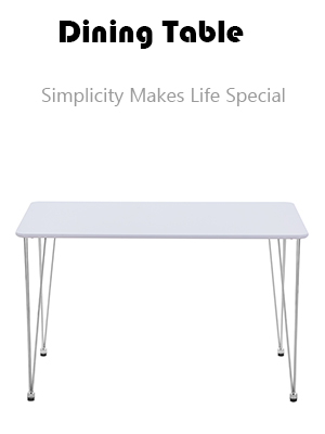 Modern Wood White Dining Table  for 4/6 Hairpin Rectangle Kitchen Dining Table Leisure Coffee Table