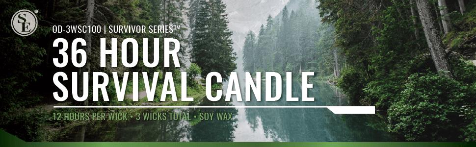 Coghlans 36 Hour Survival Candle 3 wick Emergency Survival Light Heat Source