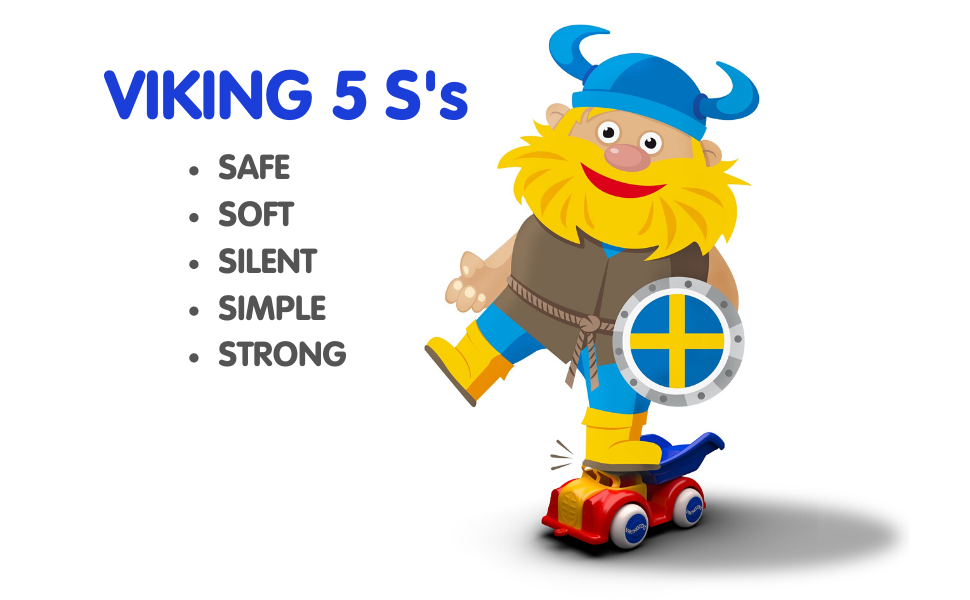 Viking Toys, Swedish Design, Simple, Modern, Safe, Non-Toxic, BPA-Free, Cars, Trucks, Planes, Kids