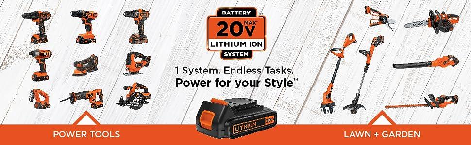 20v power tool system cordless