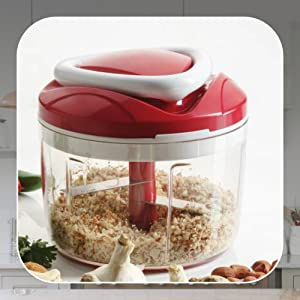 Easy Pull Smart Plastic Chopper, 650 ml, Red