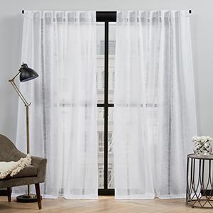 white sheer curtains, sheer curtains, curtain panels, window curtain panels, curtains for kids room