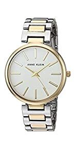 Anne Klein Womens Premium Crystal Accented Resin Bangle Watch