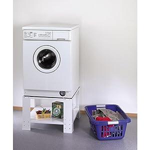 Waschmaschinensockel mit Stauraum