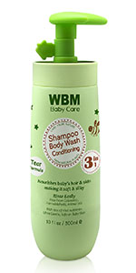baby conditioning, body wash, shampoo
