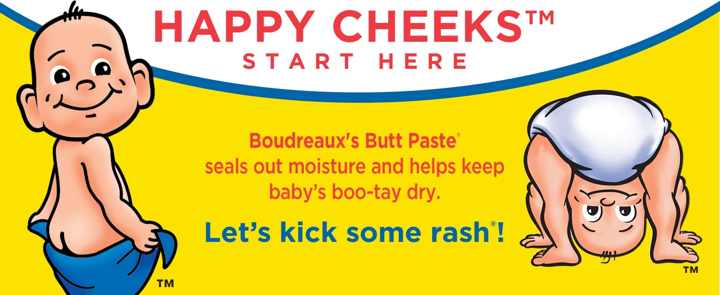 Boudreaux's Butt Paste seals out moisture and helps keep baby's booty dry