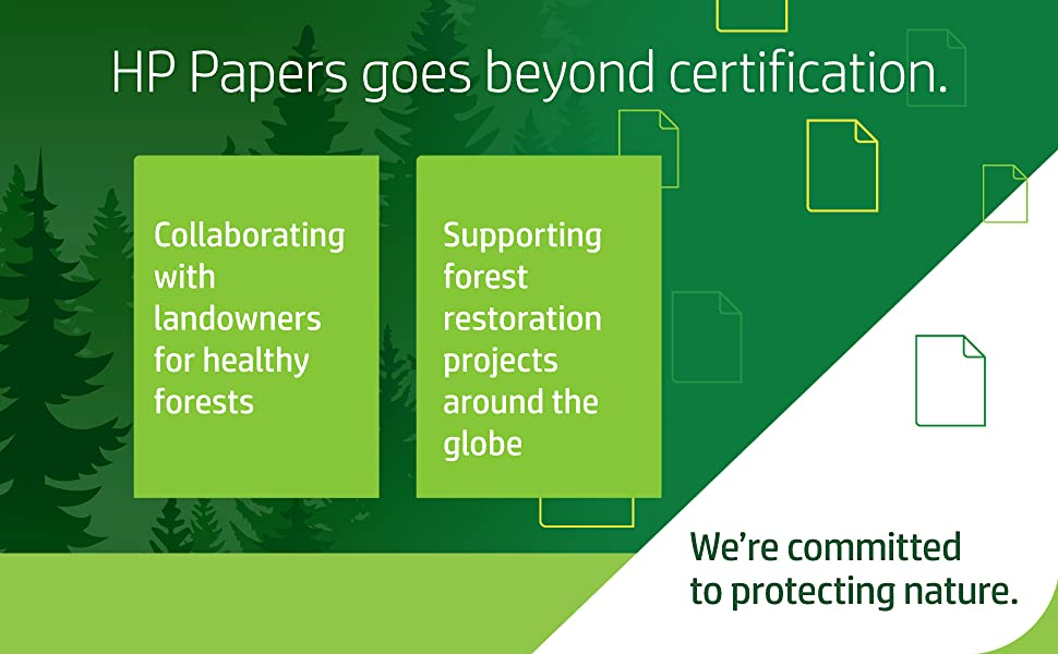 HP Papers goes beyond certification - healthy forests - forest management around the globe