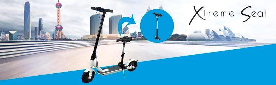 SMARTGYRO Xtreme Seat - Asiento para patín eléctrico, Compatible con Xiaomi M365 Xtreme City