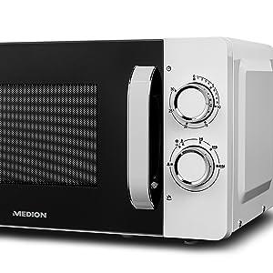 MEDION MD18687 Microondas, 17 litros, 700 W, 6 niveles de potencia ...
