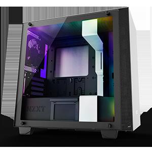 NZXT H400i - Caja PC Gaming MicroATX - Dispositivo inteligente con tecnología CAM - Panel de vidrio templado - Versión 2018
