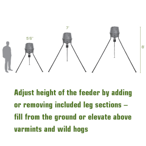 moultrie deer feeder unlimited adjustable height
