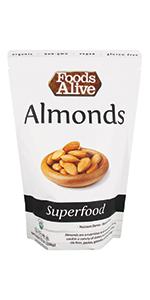 Almonds - Organic, Plant-Based, Non-GMO, Vegan, Raw