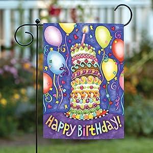 Toland Home Garden 110083 Happy Birthday 12.5 x 18 Inch Decorative, Garden Flag (12.5