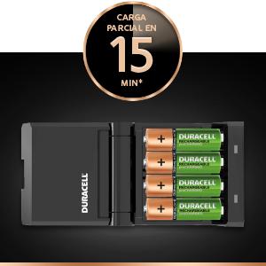 Duracell - Cargador de pilas en 15 minutos, 1 unidad