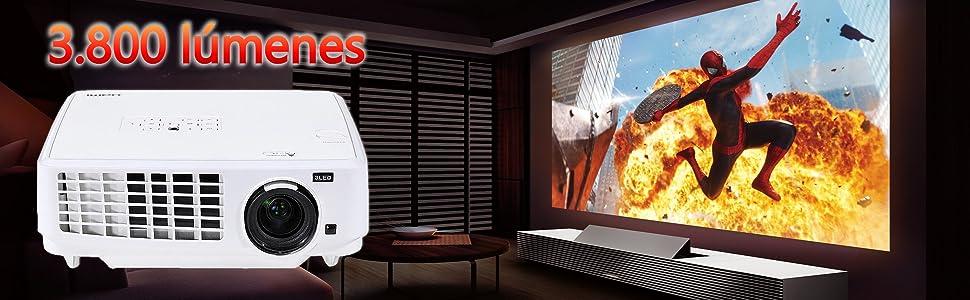 Proyector Full HD 1080P, LUXIMAGEN HD900, Maxima luminosidad ...