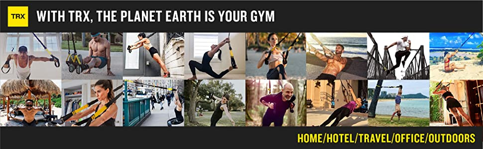 TRX ALL-IN-ONE Suspension Training: Bodyweight Resistance System | Full  Body Workouts for Home, Travel, and Outdoors | Build Muscle, Burn Fat,  Improve