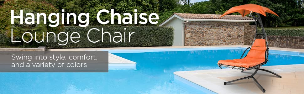 From the manufacturer - Amazon.com : Best Choice Products Hanging Chaise Lounger Chair Arc
