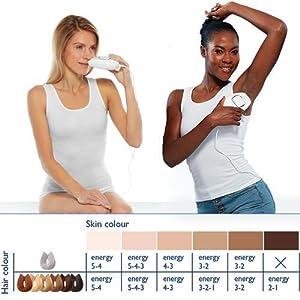 Silk'n Infinity 400 K, Depiladora para pieles claras y