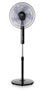 Orbegozo SF 0147 Ventilador de pie oscilante, 3 niveles de ventilación, tamaño aspas 40 cm, altura regulable, 50 W de potencia: Orbegozo: Amazon.es: Hogar