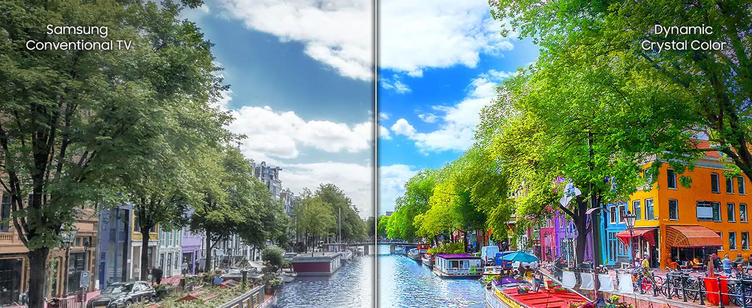 Wide Color Gamut capable TV vs Samsung 2017 FHD TV.