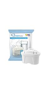 TM Electron Tmfil001 30 à 60 jours compatible carafes brita maxtra, 1 cartouche filtrante de 100 à 200 l