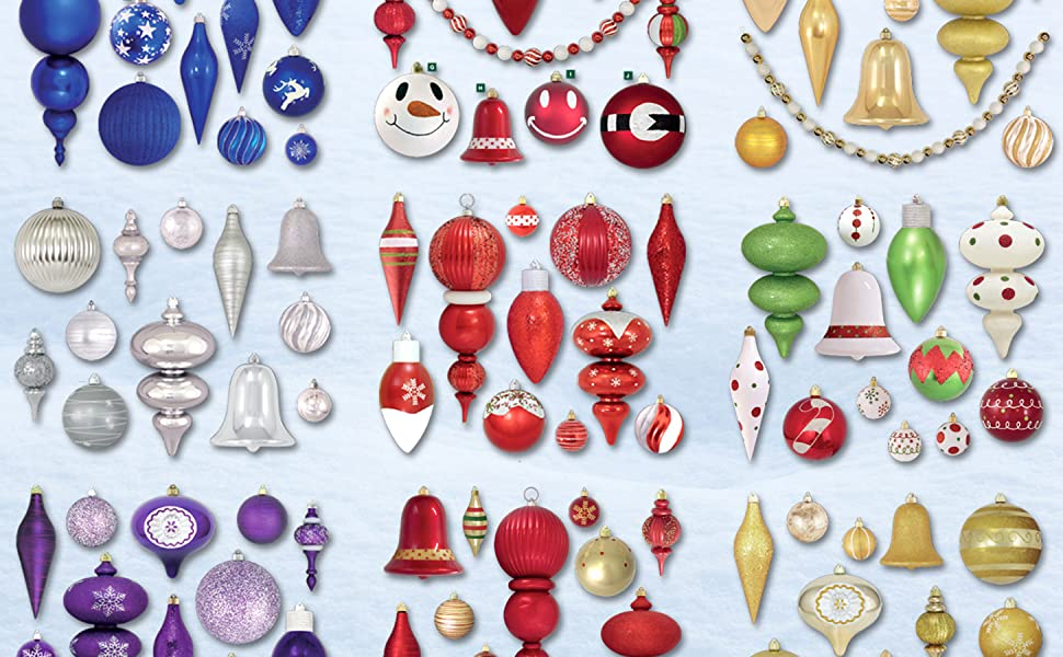 shatterproof plastic ornaments colors indoor outdoor quality durable commercial grade plastic