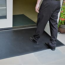 SuperScrape, scraper mat, removes dirt, stops tracking, clean, safe, beveled edges