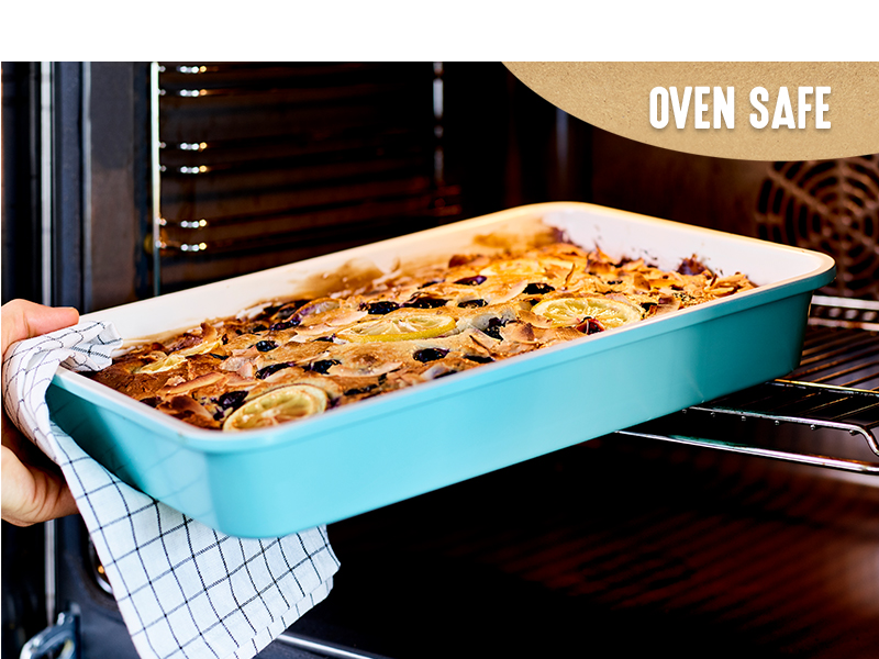 GreenLife, oven safe, heavy-duty, steel, bakeware, durable, versatile, ceramic, vibrant, colorful