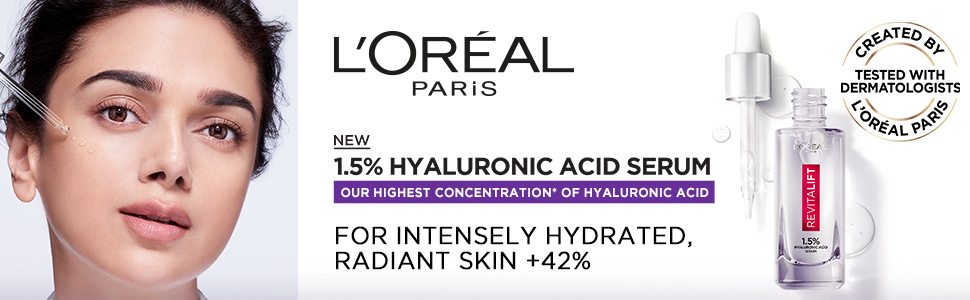 L'Oréal Paris Revitalift 1.5% Hyaluronic Acid Serum, 15ml, 30ml