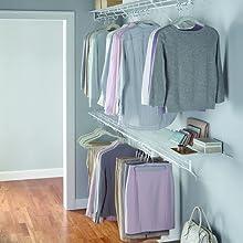 Rubbermaid configurations closet shelves shirts pants