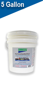 Corroseal, rust converter, rust, prime, paint, remove, cleaner, automotive, industrial, green, clean