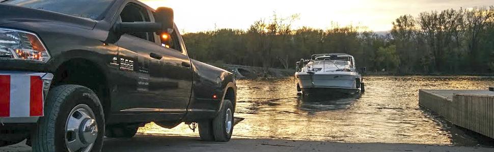 CURT Boat Trailer Jack, Boat Launch, Lake