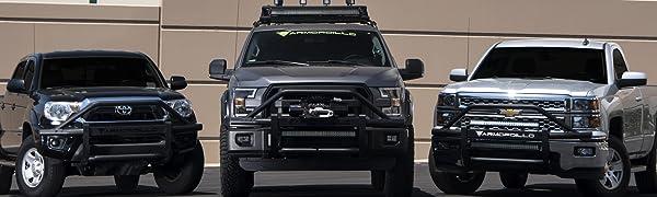 Armordillo USA 7168442 AR Pre-Runner Guard Fits 2007-2013 Chevy Silverado 1500 Matte Black